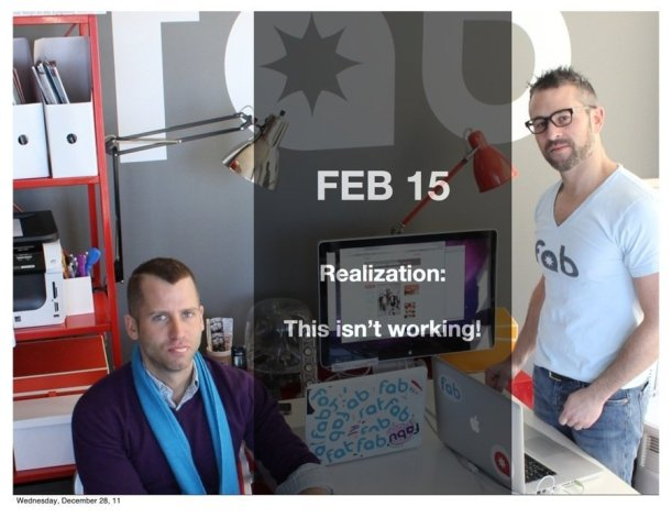 In early 2011, Bradford Shellhammer and Jason Goldberg shut down Fabulis and started Fab.